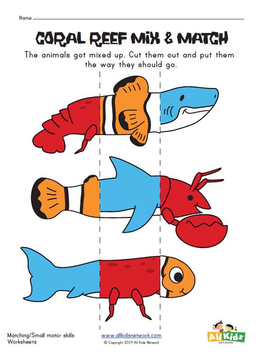 sea life worksheets for kindergarten ocean animals worksheets for kidssea printable templates. Black Bedroom Furniture Sets. Home Design Ideas