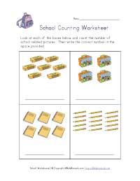 back to school counting practice worksheet