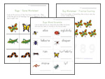 bug worksheets for kids