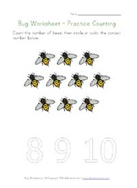 printable bugs counting to 10