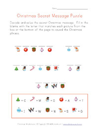 printable christmas decoder puzzle