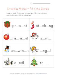 christmas missing letters worksheet