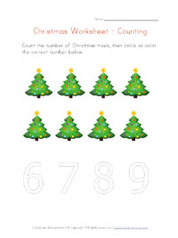 printable christmas counting to 8