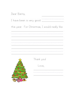 letter to santa worksheet