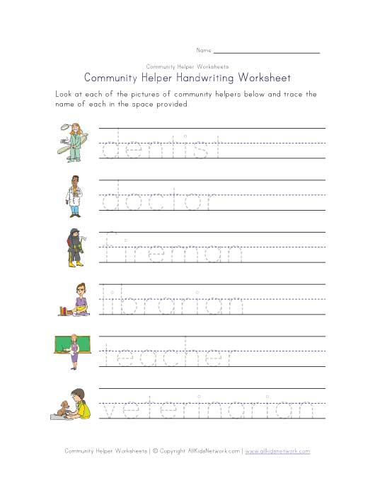 Community Helpers Worksheets : Community helpers matching worksheet kindergarten
