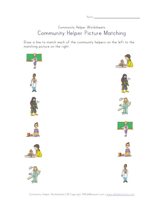 Community Helpers Worksheets : The gallery for gt community helpers worksheet