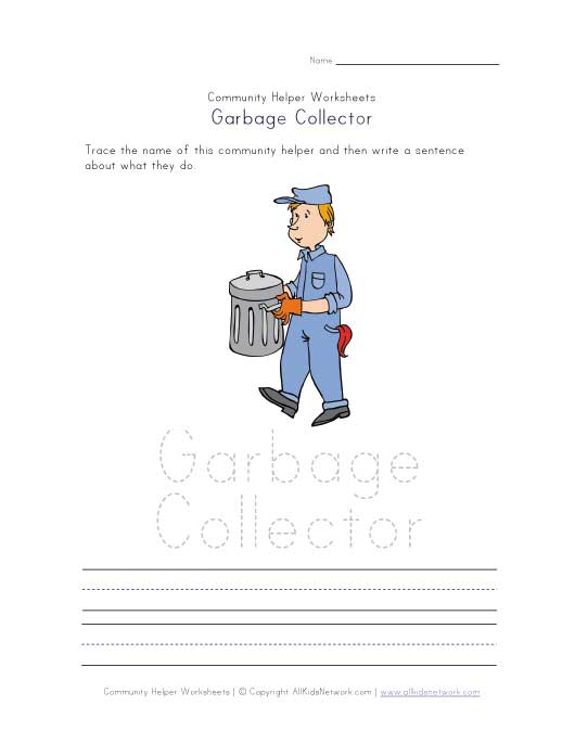 what a garbage collector does worksheet