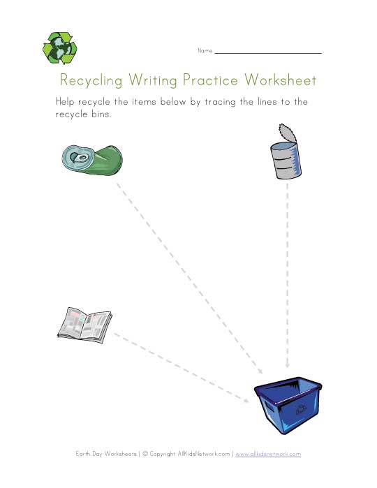 earth day writing practice worksheet