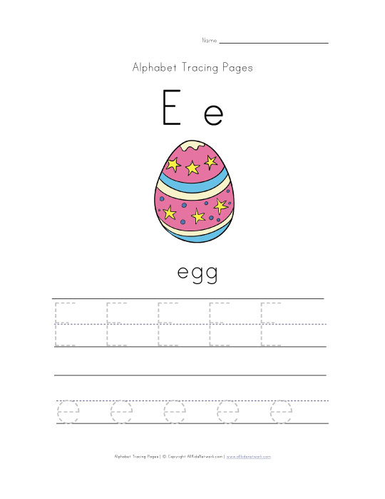 easter egg worksheet