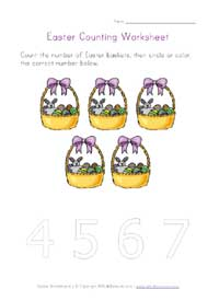 printable easter counting to 5