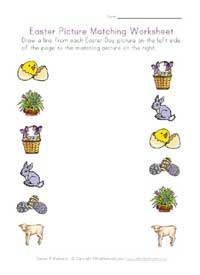 printable easter picture matching