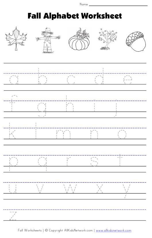 Number Names Worksheets fall worksheets for kindergarten Free – Kindergarten Fall Worksheets