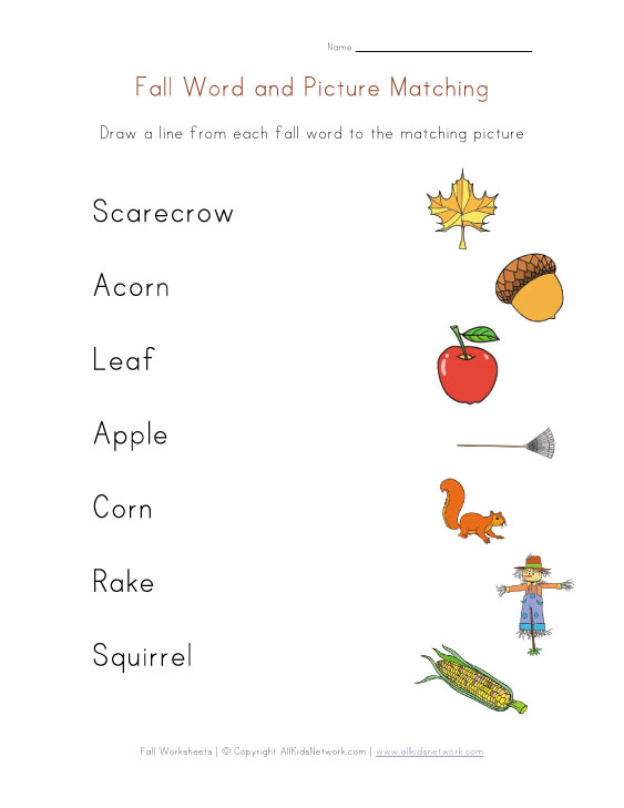 math worksheet : 40 awesome fall worksheets for kids : Fall Worksheets Kindergarten