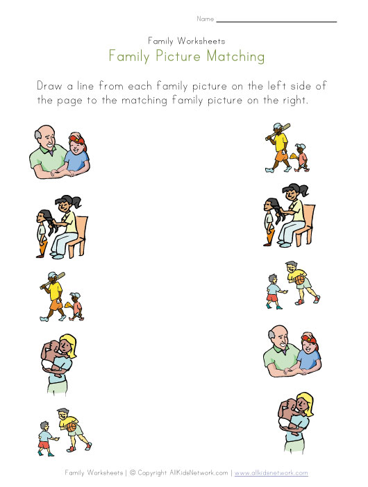 My Family Worksheets Kindergarten – My Family Worksheets for Kindergarten