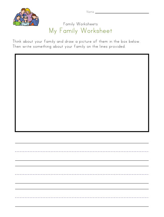 math worksheet : family worksheets for kids : Family Worksheets Kindergarten