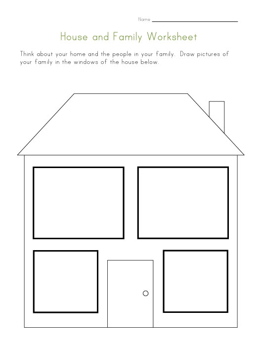 House and Family Worksheet