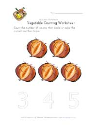 five onions worksheet