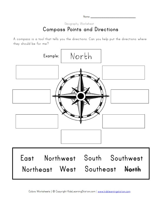 Compass Points Worksheet | Imperialdesignstudio