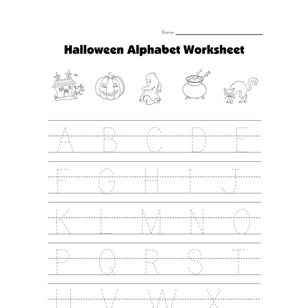 Halloween Capital Letters Worksheet All Kids Network