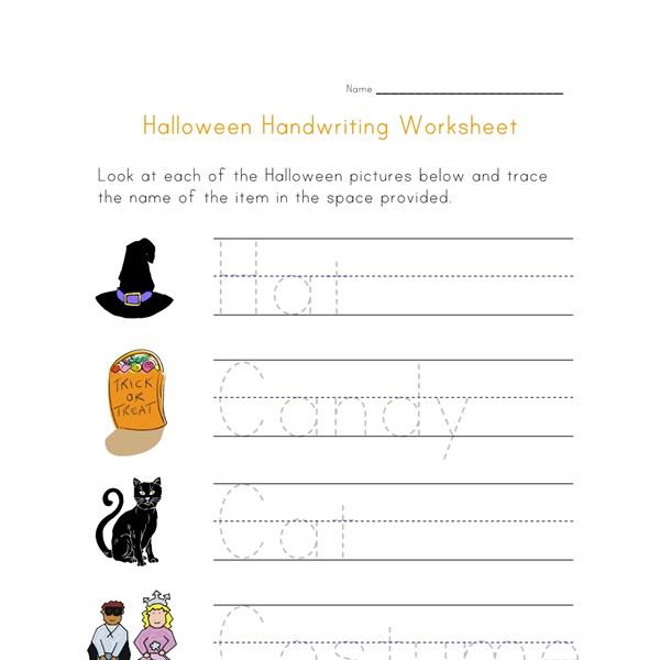 halloween handwriting worksheet all kids network. Black Bedroom Furniture Sets. Home Design Ideas