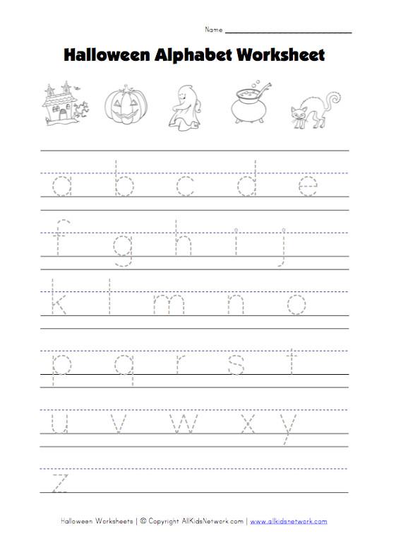 halloween lowercase letters worksheet. Black Bedroom Furniture Sets. Home Design Ideas