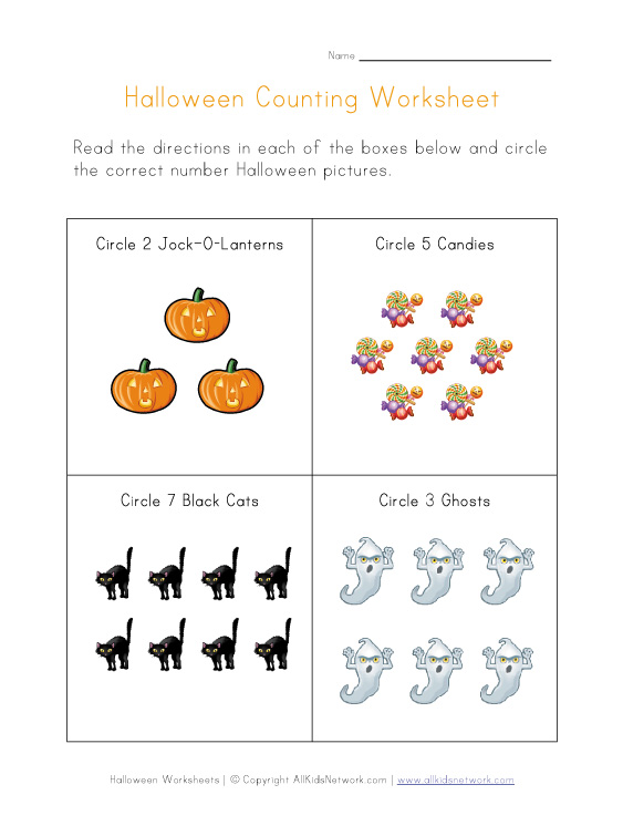math worksheet : halloween worksheets : Halloween Kindergarten Worksheets