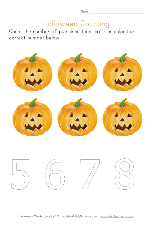 halloween counting to six