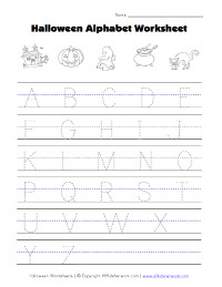 halloween alphabet tracing capitals