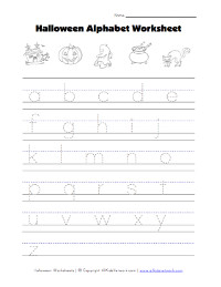 halloween alphabet tracing lowercase