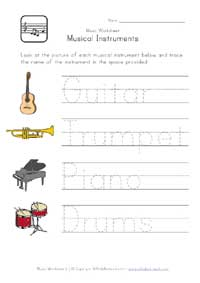 music worksheet handwriting