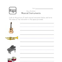 music worksheet instrument types all kids network. Black Bedroom Furniture Sets. Home Design Ideas