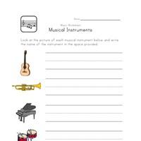 music worksheet instrument types all kids network. Black Bedroom Furniture Sets. Home Design Ideas
