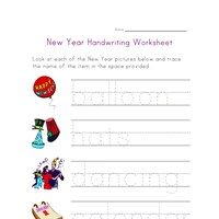 new year worksheet counting to eighteen all kids network. Black Bedroom Furniture Sets. Home Design Ideas