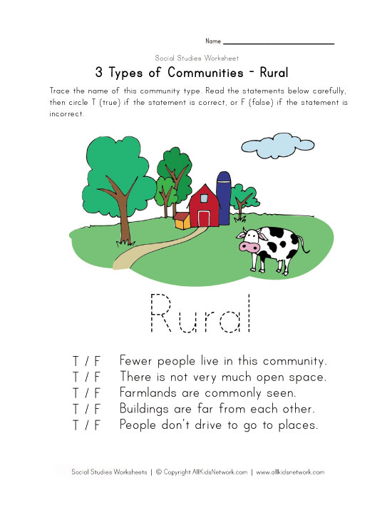 View and Print Your Free Rural Community Worksheet