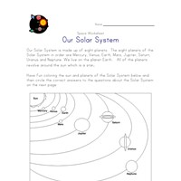 solar system matching worksheets - photo #22