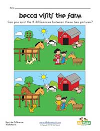 spot the differences farm