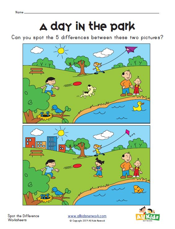 View and Print Your Spot the Difference Worksheet