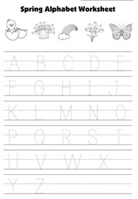 tracing capital letters worksheet