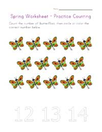 counting fourteen worksheet