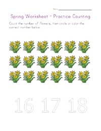 counting eighteen worksheet