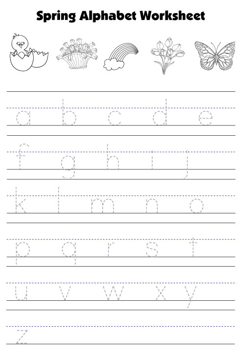 Number Names Worksheets kindergarten alphabet writing worksheets – Lowercase Letter Worksheets Kindergarten