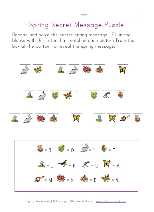 View and Print Your Spring Cryptogram Puzzle