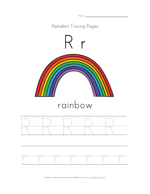 spring alphabet letter r worksheet