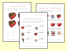 valentines day worksheets for kids