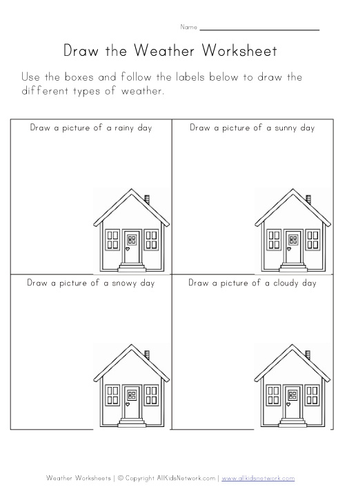 draw the weather worksheet. Black Bedroom Furniture Sets. Home Design Ideas