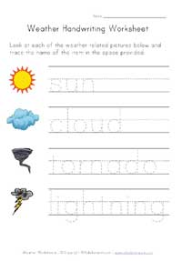 weather handwriting worksheet