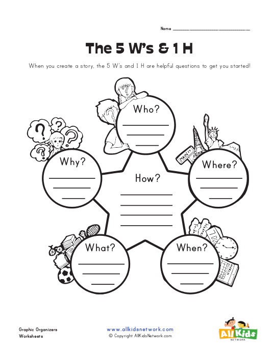 View and Print Your Free Who, What, When, Where, Why and How Graphic ...